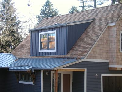 wood shingle and shake, combination gutters and siding